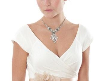 Blush Pink Bridal Belt w/ Matching Silk Floral Embellishment Neutral Nude Hand Cut Silk Flower W/ Raw Edges USA 1000210