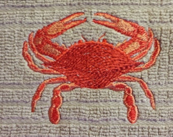 Red Crab Kitchen Towel