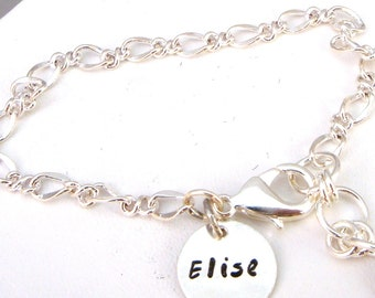 Name Charm Bracelet - Friendship Bracelet - Silver Bracelet