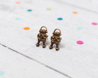 Robot Earrings | Steampunk Jewellery | Stud Earrings | Nickel Free Earrings