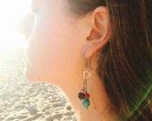 RESERVED Custom Ambrosial Gardens Earrings