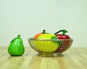 Vintage Wire Basket Fraser's Cromargan Centerpiece Made in Italy Stainless 18/10