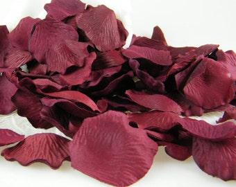 Burgundy Deep Red Rose Petals - 200 Artificial Petals - Romantic Wedding Decoration Flower Girl basket Petals - Burgundy Wedding Decor