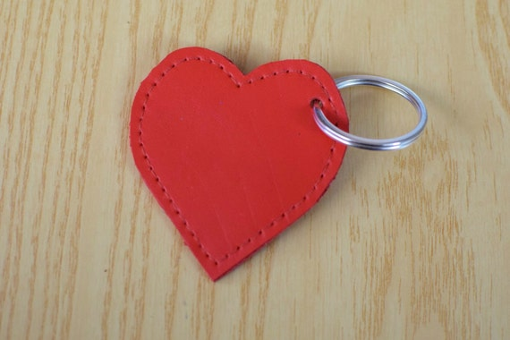 Leather keychain, leather keyring,heart keychain, heart keyring,red heart keychain,red heart keyring,red heart leather,leather heart