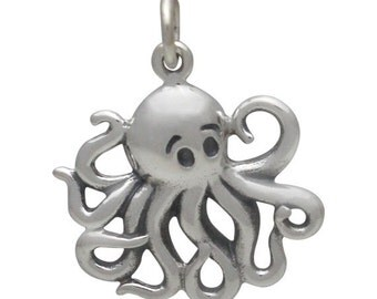 Silver Octopus Charm