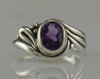 R999- Sterling Silver Amethyst Ring- One of a Kind