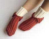 Wool Socks - EU Size 37-39 - Nand Knitted  - 100 % Natural Wool