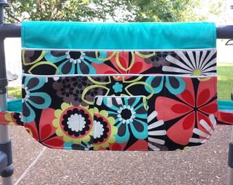 Flower Shower, Walker Bag, Walker Caddy, Walker Organizer, Walker Accessory, Lots of Pockets, Walker Pouch