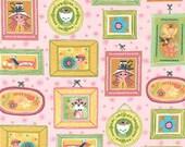 Whimsical Storybook Portraits in Garden, Tara Lilly, Robert Kaufman Fabrics, 100% Cotton Fabric, AYT-15652-238 GARDEN