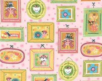 Whimsical Storybook Portraits in Garden, Tara Lilly, Robert Kaufman Fabrics, 100% Cotton Fabric, AYT-15652-238 GARDEN