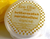 Butterscotch Marshmallow Whipped Soap - Butterscotch Marshmallow in a Jar  - Body Wash - Fluffy Whip Gift Soap - NEW FAVORITE