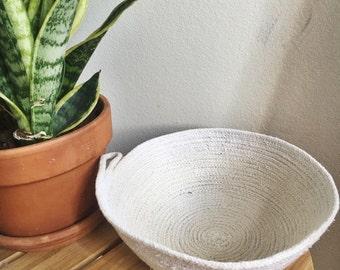 large rope bowl //