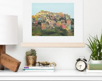 Marvelous Art Print ~ Corniglia Summer Italy Photo, Travel Wanderlust Dorm Decoration,  Coastal Seaside Theme