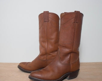 7 D | Men's Nocona Brown Western Boots with Tufgum Soles