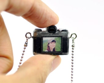 Personalized necklace Canon AE-1 Camera miniature / personalized gift /personalized necklace