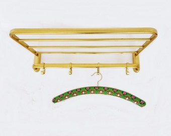 Vintage Golden Me'tal Coat Rack