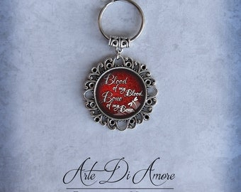Red Blood of My Blood Keychains