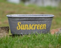 SALE! Sunscreen Decorative Tub, Yellow