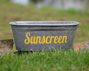 Sunscreen Decorative Tub, Yellow
