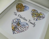 Parents Wedding Gift Thank You Gift Wedding Frame Heart Map Art Gift For Parents Gift Wedding Gift Father of the Bride Mother of the Bride