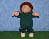 "Reserved for Suesirotti only - Cabbage Patch Clothes - Handmade for 16"" - 18"" Boy Dolls - Sweats Outfit - Michigan State Colors"