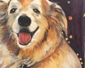 In Progress So Gorgeous Reagan  Original OIl Painting by Marlene Kurland  16 x 20   Painting of Dog