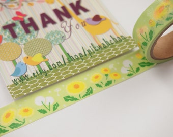Dandelion Flower Washi Tape - Amifa (5M)