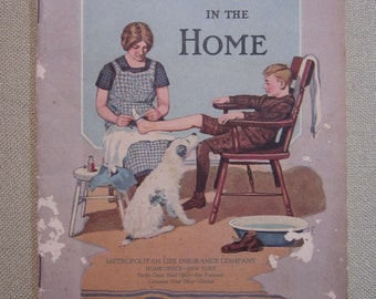 Vintage 1920's First Aid In The Home - Metropolitan Life Insurance Company