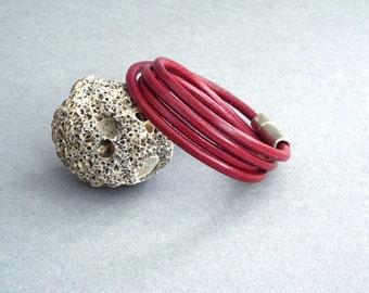 Womens Leather Bracelet, Wrap Bracelet, Girlfriend Gift, Gift for Her, Womens Jewelry