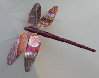 dragonfly ornament, carved dragonfly, garden dragonflly, garden decor