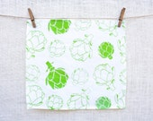 Set of Four Flour Sack Artichoke Napkins
