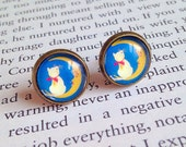 Charity Cat Studs - Moon, White Cat, Cat Rescue, Animal Rescue, Cat Shelter
