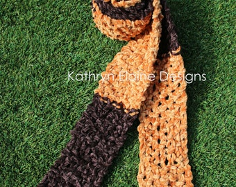 Two tone Brown Hand Knit Scarf