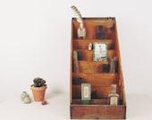 vintage wood cubbies,desk caddy,antique display case, letterpress card display,general store display, wood crate, desk organizer, circa 1940