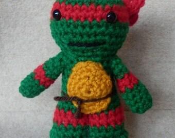 """Made to order, Hand crocheted TMNT Teenage Mutant Ninja Turtle 6""""doll  Amigurumi Doll Choose color"""