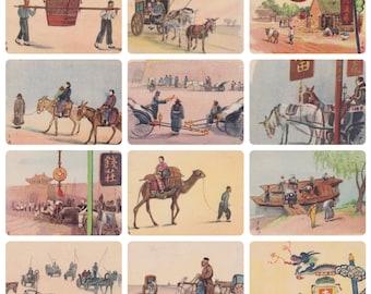 Japanese Postcards, Set of 12 -- 1950s-1960s?