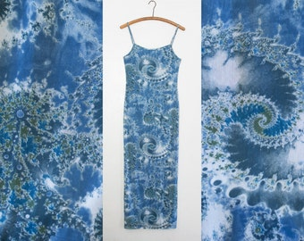 psychedelic fractal maxi - M