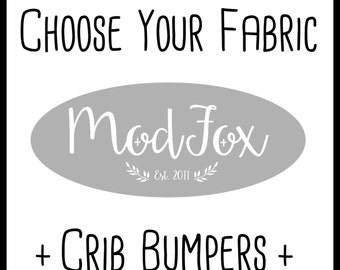 Custom Crib Bumpers - Choose Your Fabric - Crib Bumpers In Any Fabric - Custom Crib Bedding - Bumper Set - Crib Bumpers - Baby Bedding