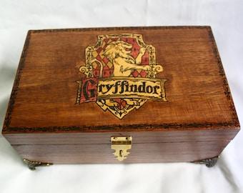 Gryffindor House Harry Potter Hogwarts Wooden Box