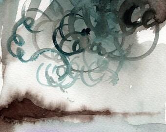 Small Watercolor Original. Original artwork. Original watercolor. Small abstract painting. Original watercolor abstract. Original wall art