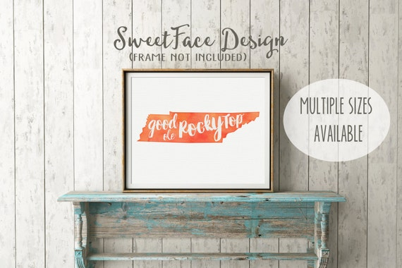 University Of Tennessee Vols Watercolor Art By SweetFaceDesign