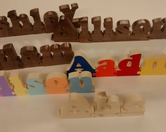Interlocking name puzzles personalized Wooden Letters