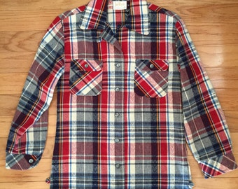 Plaid linen shirt size small to medium