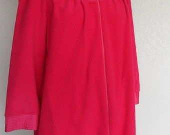 Vintage Velour Robe House Coat Kayser Small Pink