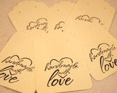 """Ivory Earring Cards, Card Stock Paper Earring Cards, 20 Earring Cards, Supplies, 3 1/4 x 2 1/8"""". CKDesigns.US"""