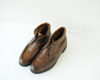 Vintage Early 60's Red Wing USA Union Made Brown Leather Ankle Boots, Mens 9 / ITEM217
