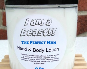 Lotion For Men - Mens Skin Care - Men's Lotion - Mens Hand and Body Lotion - Organic Lotion For Men - You choose Your Scent 2 oz, 4 oz, 8 oz