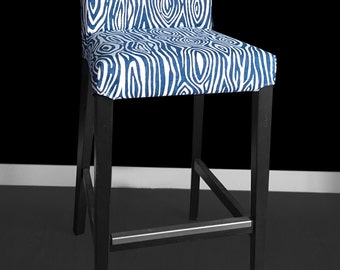 IKEA HENRIKSDAL Bar Stool Chair Cover - Willow Navy