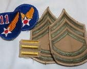 US Army WW2 11th Airforce, AAF Master Sgt Rank set for Summer Weight Uniforms