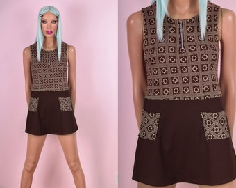 Vintage Mod Daisy Mini Dress